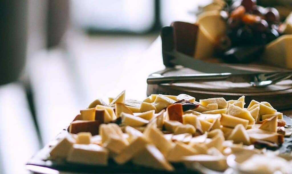 Cheese on a buffet table